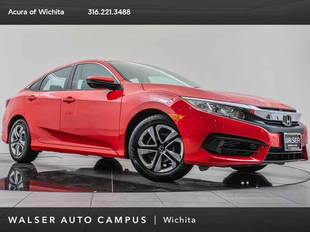 Pre-Owned 2016 Honda Civic Sedan LX, 1-Owner